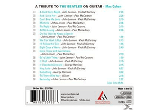 Max Cohen - A Tribute To The Beatles On Guitar  - (CD)