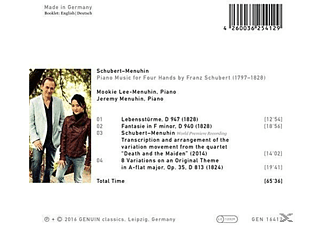 Jeremy Menuhin, Mookie Lee-menuhin - Piano Music For Four Hands By F. Schubert - (CD)