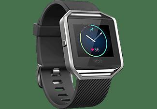 Reloj deportivo - Fitbit Blaze, Negro/Plata, Multideporte, Talla Grande