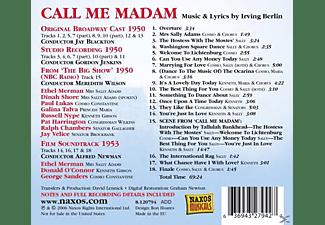 VARIOUS - Call Me Madam  - (CD)