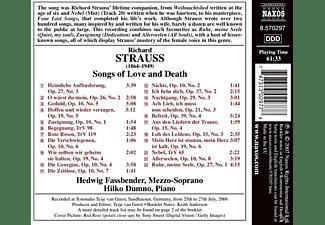 Hedwig Fassbender, Hilko Dumno - Lieder Von Leben Und Tod  - (CD)