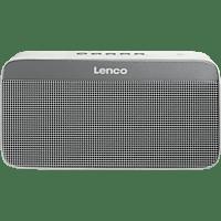 LENCO BT-200 Light  Bluetooth Lautsprecher, Weiss/Grau