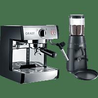 GRAEF ES 702 Euset Pivalla Set inkl. CM 702 Espressomaschine Schwarz matt