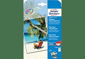 AVERY ZWECKFORM Superior Inkjet Fotopapier, 13 x 18, beidseitig beschichtet, 230 g/m², 45(C2495-45R)