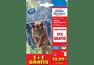 AVERY ZWECKFORM Inkjet Fotopapier, 10x15, einseitig beschichtet, 250 g/m², 80 Bögen (C2550-40P)