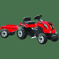 BIG Smoby Traktor Farmer XL mit Anhänger , Rot