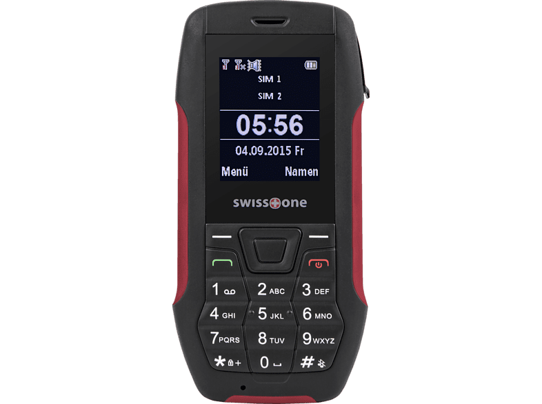 SWISSTONE SX 567 Rot/Schwarz, Outdoor Handy