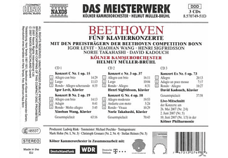 Helmut & Kko Müller-brühl, Helmut/kölner Kammerorchester Müller-brühl - Sämtliche Klavierkonzerte 1-5 (GA)  - (CD)