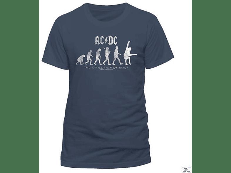 Evolution Of Rock (T-Shirt, Graublau, Größe M)