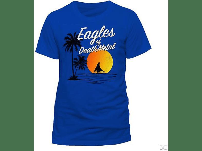 Sun Logo (T-Shirt, Blau, Größe XL)