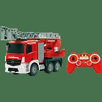 JAMARA 404960 Feuerwehr Drehleiter Mercedes-Benz Antos 1:20, Rot