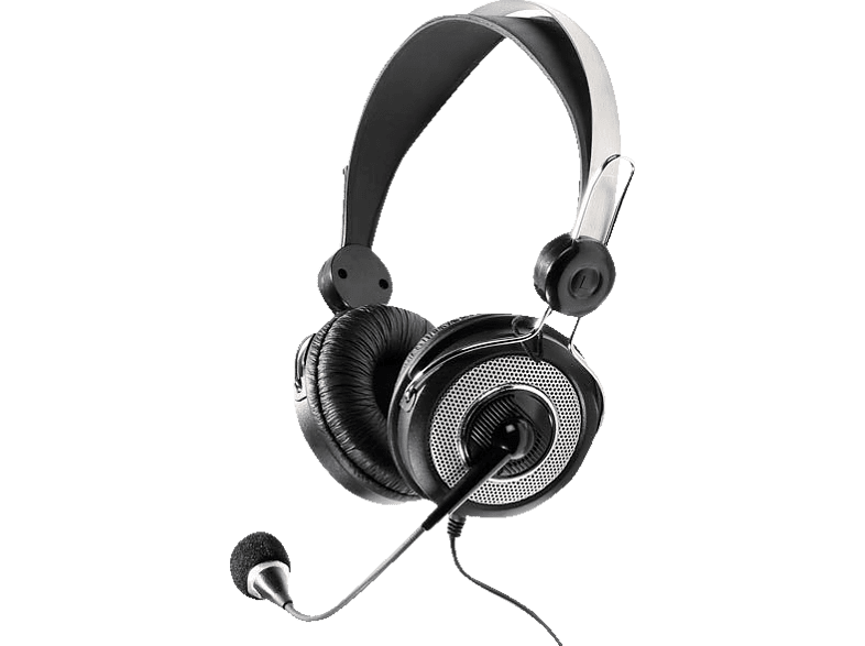 VIVANCO 36652 Stereo Headset Schwarz/Silber