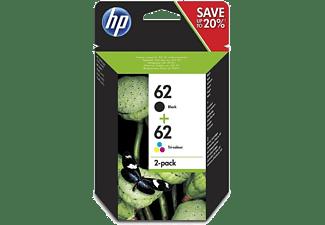 HP Nr. 62 Black + Colour, 2er-Pack Druckerpatronen (N9J71AE)