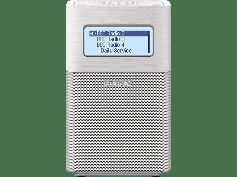 Sony Xdr V1btd Digitalradio Digital Radio Dab Dab Weiss Mediamarkt