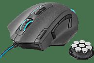 TRUST GXT 155 Gaming Maus, Schwarz/Blau