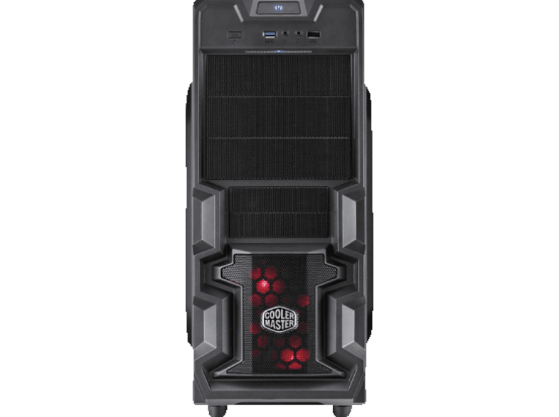 COOLER MASTER Elite K380 - Midi Tower - RC-K380-KWN1  PC-Gehäuse, Schwarz