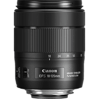 CANON 1276C005AA 18 mm-135 mm f/3.5-5.6 EF-S, IS, USM (Objektiv für Canon EF-Mount, Schwarz)
