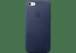 APPLE Leder Case, Backcover, Apple, iPhone SE (2016), Blau