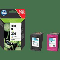 HP 301 Tintenpatrone 2er-Pack Schwarz/Cyan/Magenta/Gelb (N9J72AE)