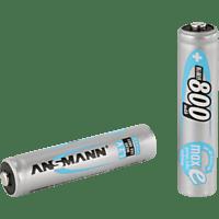 ANSMANN 5030982 NiMH Akku Micro AAA 800mAh maxE Batterie (wiederaufladbar) Ni-MH 2 Stück