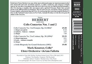 Mark Kosower - Cellokonzerte 1-2  - (CD)