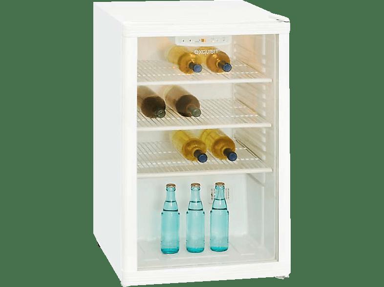 EXQUISIT BC1-10-4.1E Gewerbekühlschrank (314 kWh/Jahr, -, 840 mm hoch, Weiß)