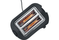 SEVERIN AT 2589 Toaster Edelstahl gebürstet/Schwarz (800 Watt, Schlitze: 2)