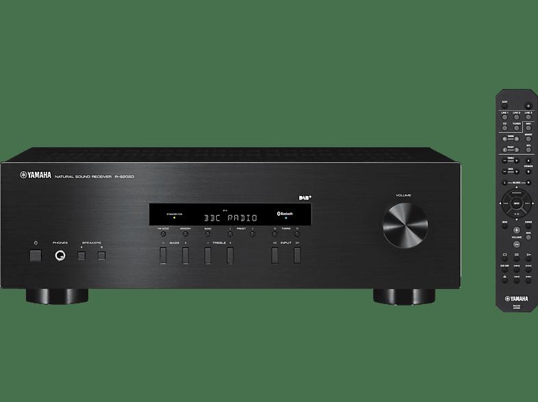 YAMAHA R-S202D  Stereo-Receiver (2 Kanäle, 115 Watt pro Kanal, Schwarz)