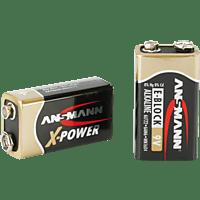 ANSMANN X-Power Alkaline Batterie 9V-Block 9 Volt Batterie Alkaline 1 Stück