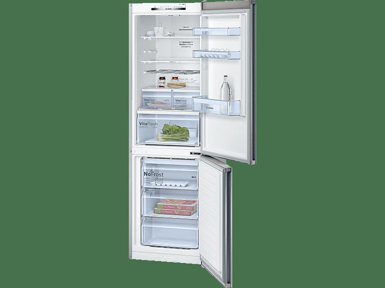 BOSCH KGN36VL35 4 Kühlgefrierkombination (A++, 260 kWh/Jahr, 1860 mm hoch, Edelstahl)