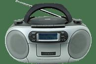 SOUNDMASTER SCD7900SW Boombox mit Kassettendeck Radio (Schwarz/Silber)