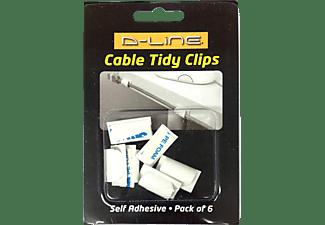 D-LINE Kabelclips 6 Stück, schwarz