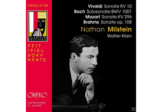 Nathan Milstein - Violinsonate RV 10/KV 296/op.108/Sonate BWV 1001 - (CD)