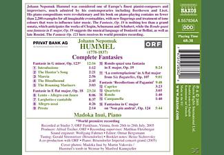 Madoka Inui - Fantasien  - (CD)