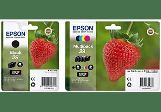 Pack Cartucho de tinta - Epson C13T29864020 Fresa, 29 cartuchos, CMYK