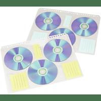 HAMA CD Index-Hüllen , Weiß