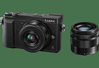 PANASONIC Lumix DMC-GX80 Systemkamera mit Objektiv Lumix G Vario 12-32mm OIS und 35-100mm OIS (DMC-GX80W)