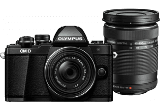 OLYMPUS OM-D E-M10 Mark II 14-42mm + 40-150mm Kit Zwart