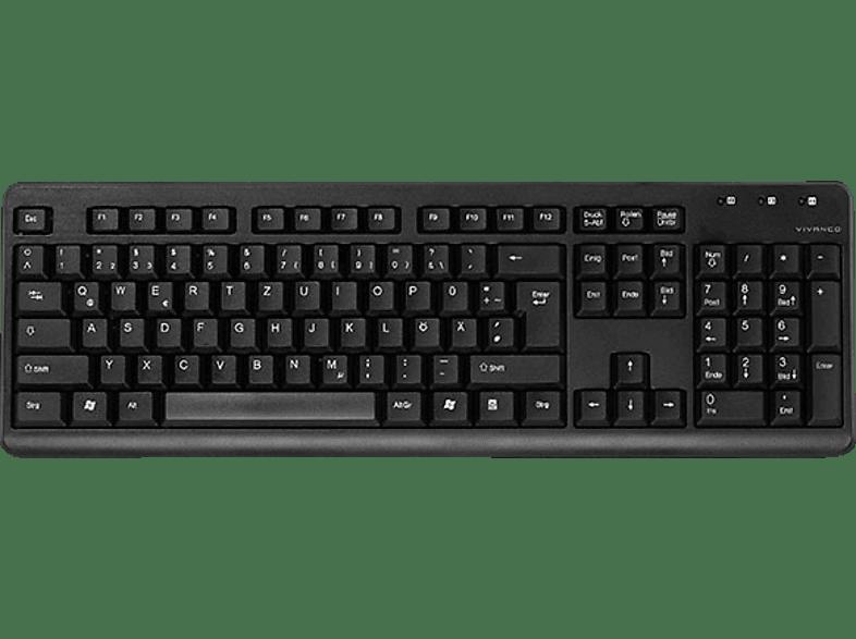 VIVANCO 36641, Tastatur, Rubberdome