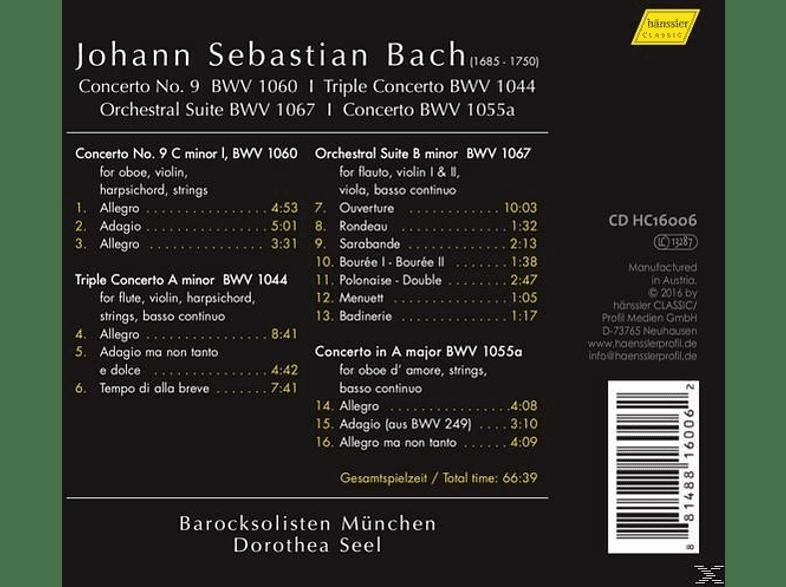 Dorothe Barocksolisten Munchen/seel - Konzert 9/Triplekonzert/Orchestersuite/+ [CD]