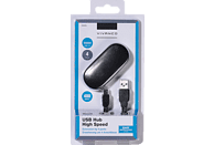 VIVANCO 36659, USB-Hub, Schwarz