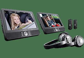 LENCO Tragbarer Doppel-DVD Player DVP940, 9 Zoll, schwarz