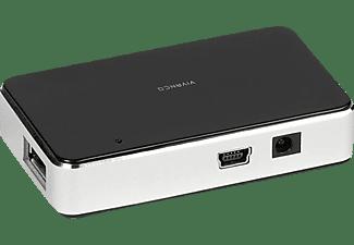 VIVANCO 36662, USB Hub, Silber/Schwarz