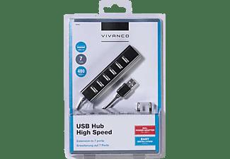 VIVANCO 36661, USB Hub, Schwarz