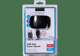 VIVANCO 36663, USB Hub, Schwarz