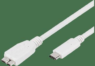 VIVANCO 45275 USB Adapter, Weiß