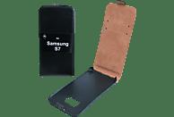 V-DESIGN DV 137 , Flip Cover, Samsung, Galaxy S7, Kunstleder, Schwarz