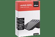 ULTRON UHN3-420S, USB Hub, Schwarz