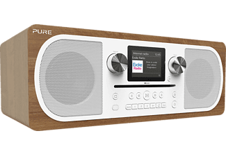 PURE DIGITAL Evoke C-F6 - Radio numérique (DAB+, FM, Internet radio, Marron)