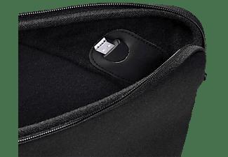 VIVANCO 37503 Notebooktasche Sleeve für Universal Textil, Schwarz